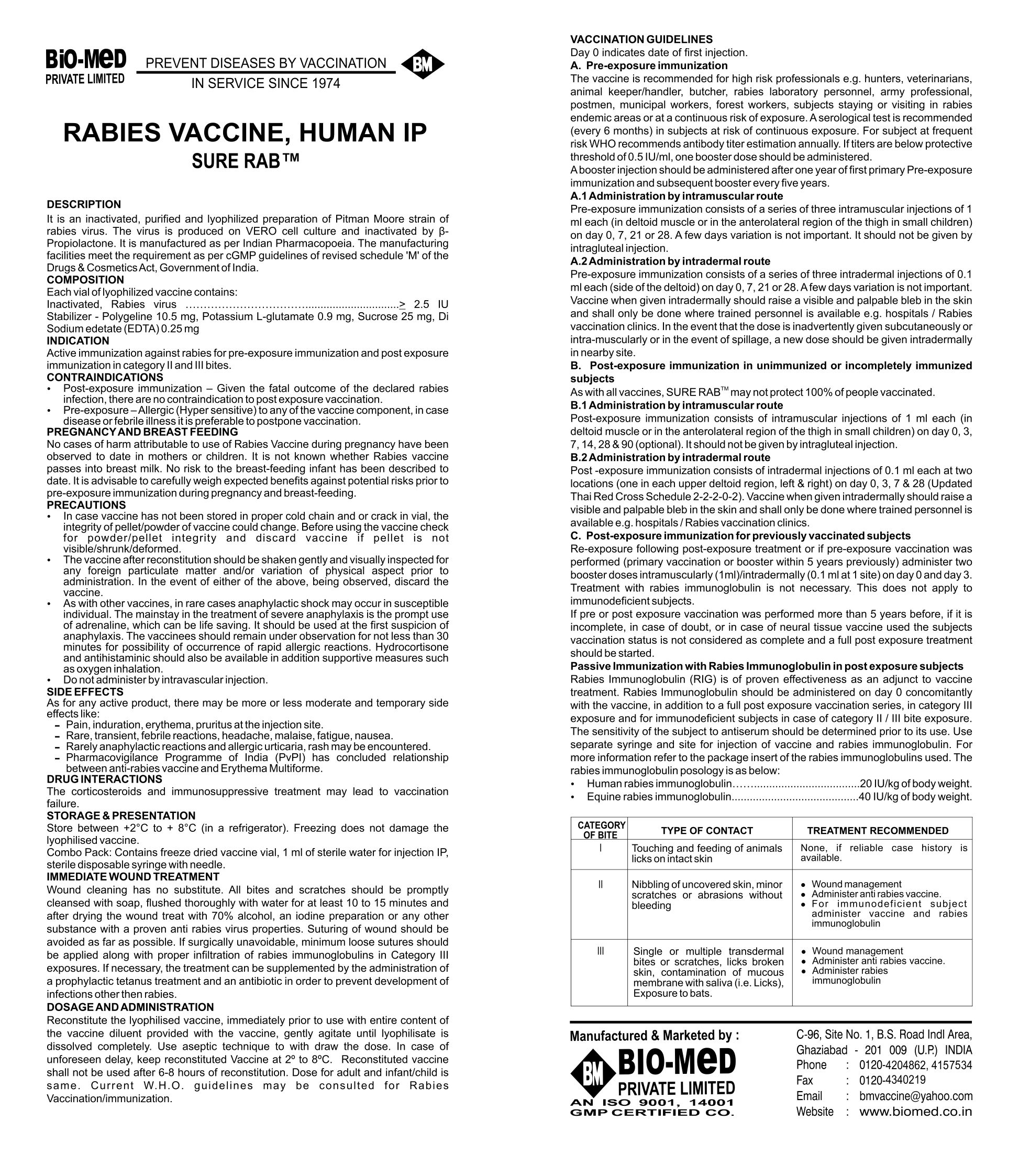 rabies vaccine human i p sure rab bio med. Black Bedroom Furniture Sets. Home Design Ideas